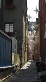 Beautiful backstreet in Riga