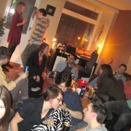 People having conversations everywhere in my living room! :)