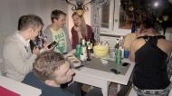 Rasmus, Elin, Leffe, Amelia, Johan, Carro & Elias, my lasts guests hanging in the kitchen