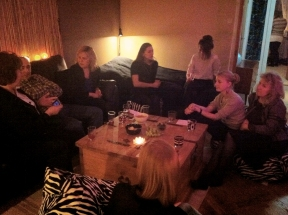 My firsts guests! Lotta, Jocke, Annelie I, Iga, Sanna, Tove, Annelie W, Linda