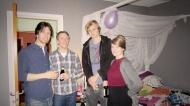Stefan, Alvar, Axel and Elina in my bedroom/flea market