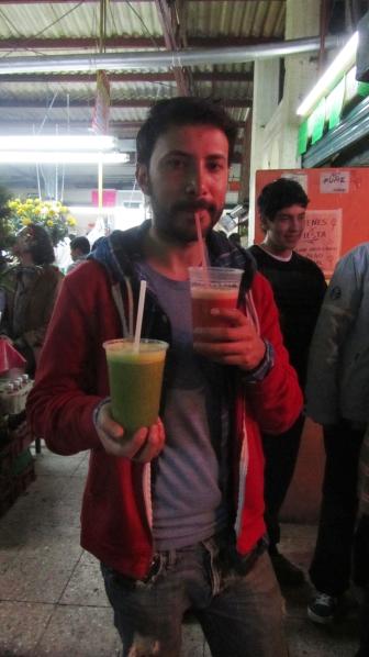 Alex, my mexican-teacher ;) with 2 jugos.