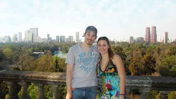 Me and my host Santiago, view over Mexico City. Picture taken from the Chapultepec Castle.