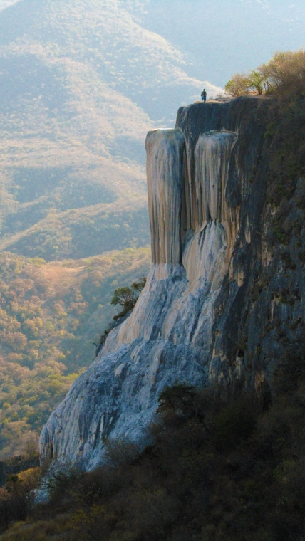 Hierve el Agua - petrified waterfall.