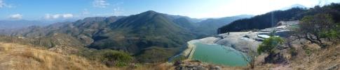 Panorama over Hierve el Agua