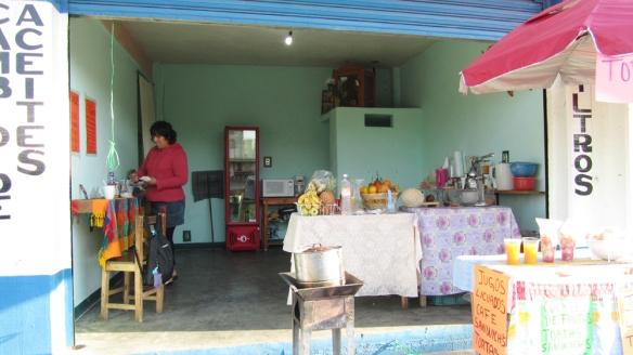 Marisol in her café