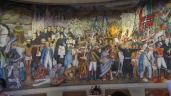 The mural of the independency at the museum in Chapultepec Castle