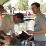 """Music, drinks, snacks in our boat """"Principe del amor"""" :)"""