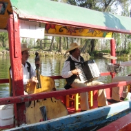 A passing boat with musicians :)