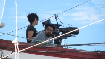 There was a film team at the roof filming the event, with a Red One :) Hehe.