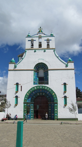 The church of San Juan Chamula from the outside