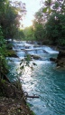 Agua azul, more waterfalls.. they have over 100 waterfalls..
