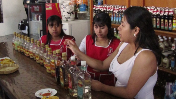 """I tried almost all types of Mezcal, bought the """"Crema de maguey"""" with taste of Capuccino."""