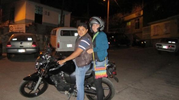 At the moto! wohoo! :)