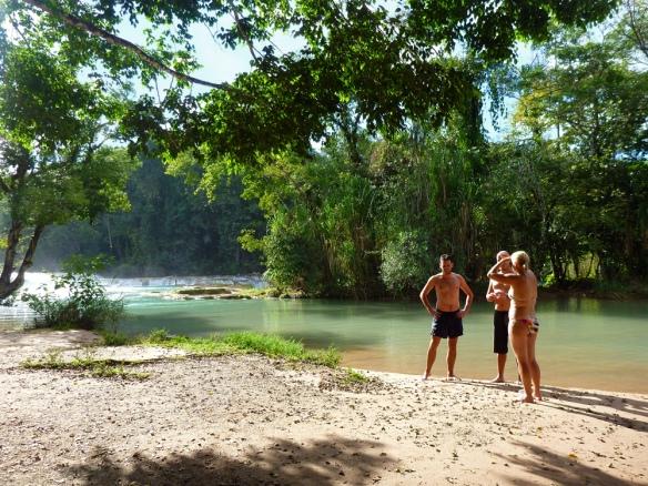 Visiting agua Azul. Paradise. :)