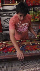 Creating rugs, this one takes around 4 weeks to do.