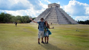 With duilio in front of the Kukulcan pyramid