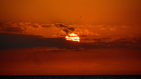 Sunset in Holbox. Beautiful!