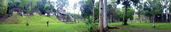 Panorama over one part of tikal