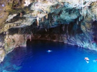 The first cenote, all blue and open