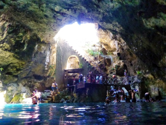 The first cenote, so beautiful.