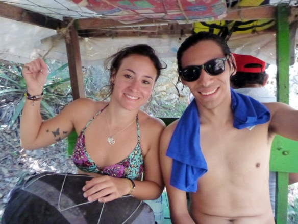 In the truck between the cenotes :)