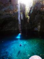The second cenote, the difficult one