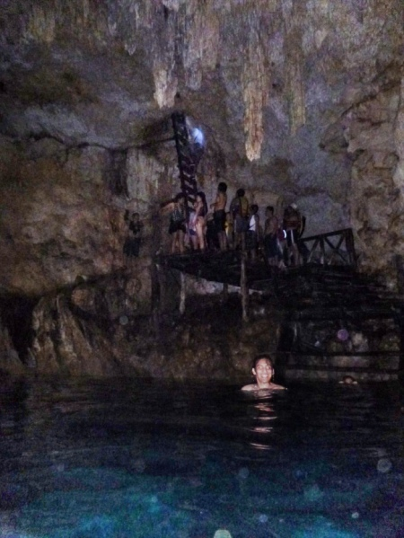 The second cenote, do you see the stairs you have to take to get there?? You can't be fat to go through there!