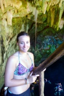 In the third cenote. Wanted one picture more from above, you can't really see the water on this one...