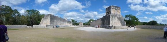 The ball court in Chichen Itza