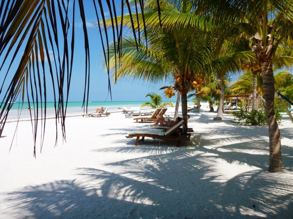 The beach at Holbox