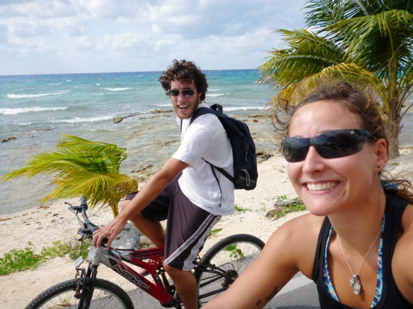 Out bicycling around  the island.... 32 km to get to the southest side of the island..