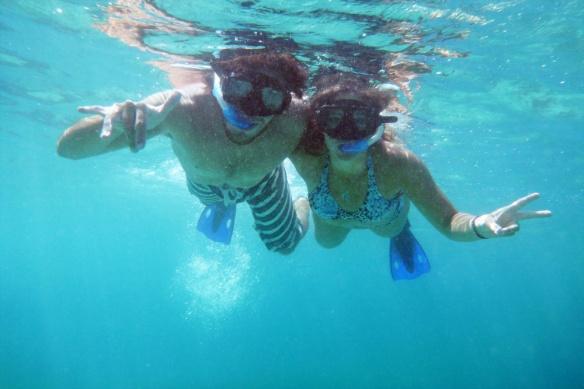 Doing snorkel in Tulum