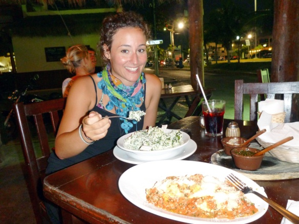 "Eating out at a Argentinian restaurant in Tulum, and it was soooo god!!! Long time ago I ate some ""reel food"". I had spinach and brie cheese risotto."