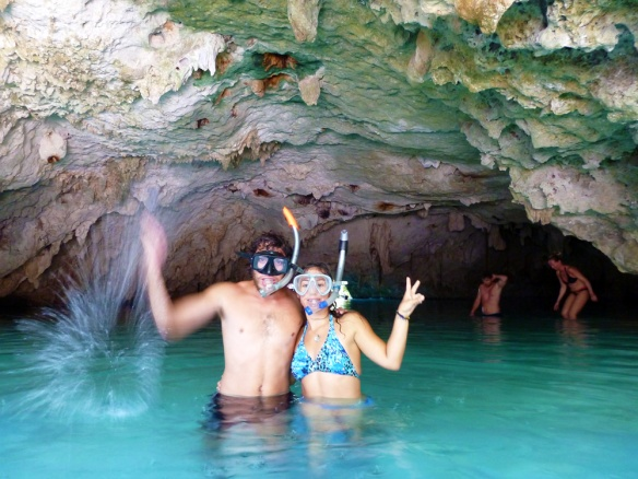 At the Gran Cenote in Tulum.