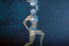 Me posing underwater, haha. I look so musculous!