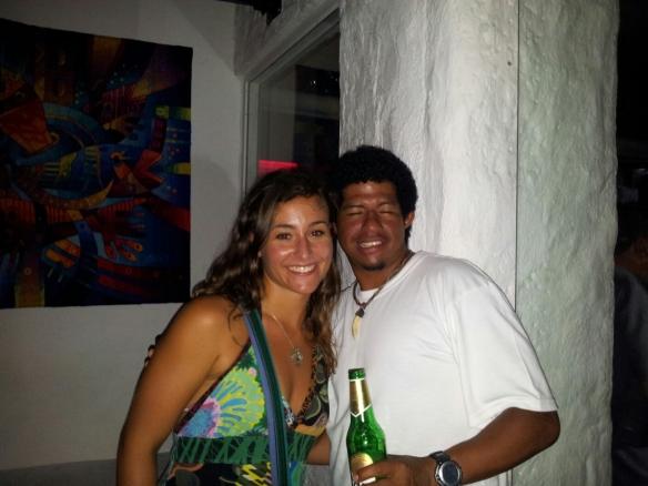 With my host David at Bongo bar