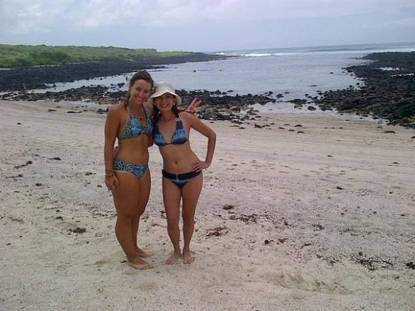 With Patricia on the beach of la loberia