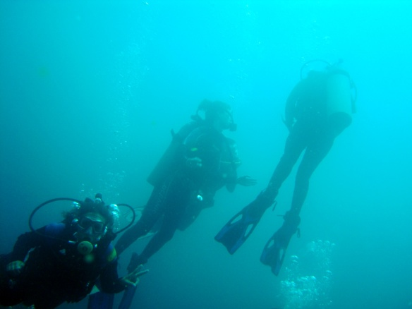 Scuba diving. Me down in the left corner ;)