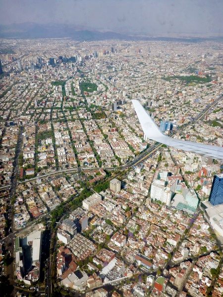 DF - mexico city - from the airplane.