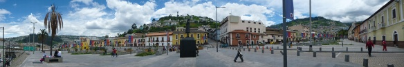 Panorama of historic center of Quito