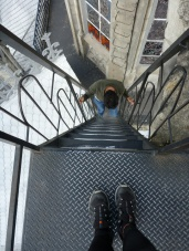 Really steep stairs!!