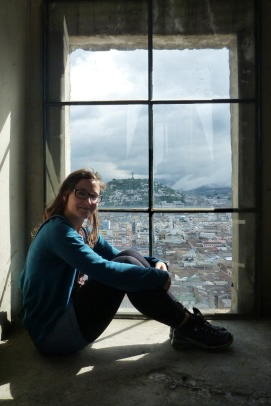 A window with view over the town. :)