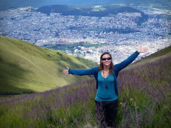 Happy 3800 meters above Quito :)