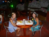 Me and lotti having dinner, really good food!