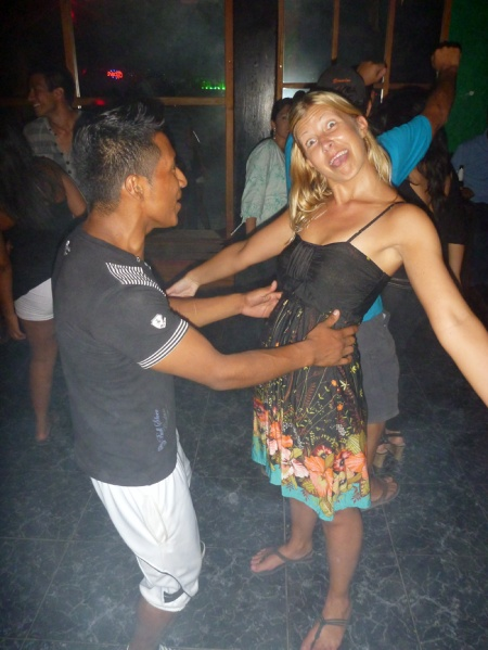 Lotti is almost giving up.. haha. this guy was a really bad salsa teacher!