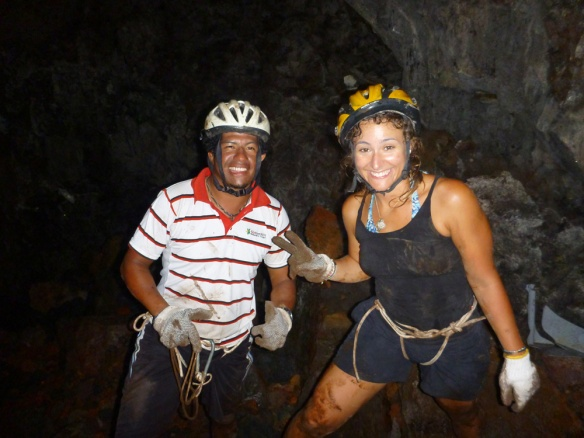 Happy and dirty after getting down to the cave!