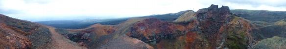 Panorama del volcan
