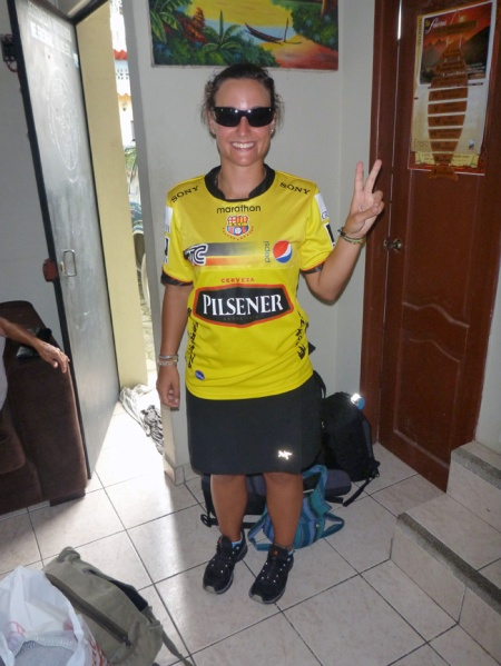 Me with the t-shirt of the Barcelona football team.. of ecuador, of course!