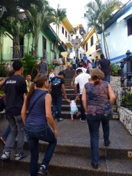 """On our 163rd step, and it's over 400 steps. The bars and restaurants on the corners have the adress """"Step 69"""" for example. :)"""